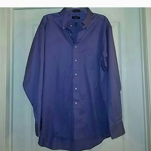 Izod light purple button down shirt